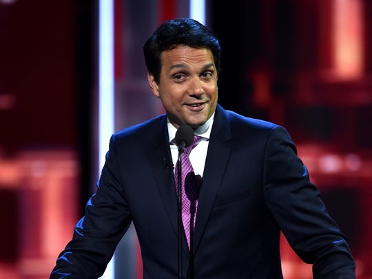 Ralph Macchio speaks onstage at The Comedy Central