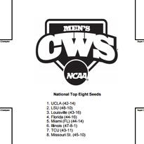 2015 NCAA baseball tournament bracket