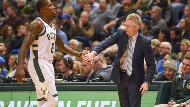 Bucks interim coach Joe Prunty says it was tough to see friend and longtime associate Jason Kidd get fired on Monday.