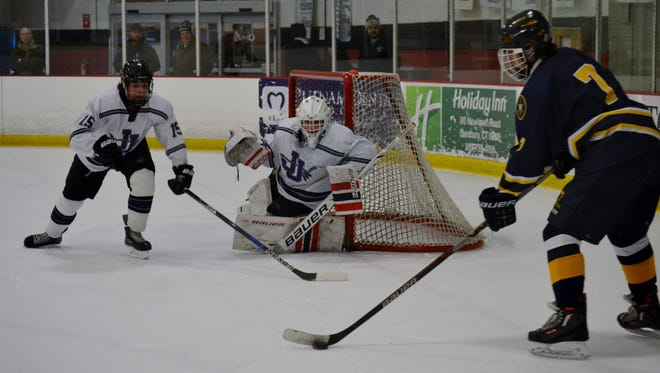 John Jay is visiting Wilton on Tuesday at Winter Garden Ice Arena.