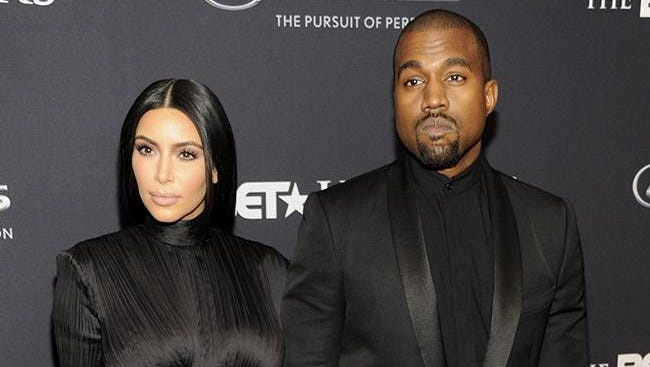 Kim and Kanye at the BET Honors