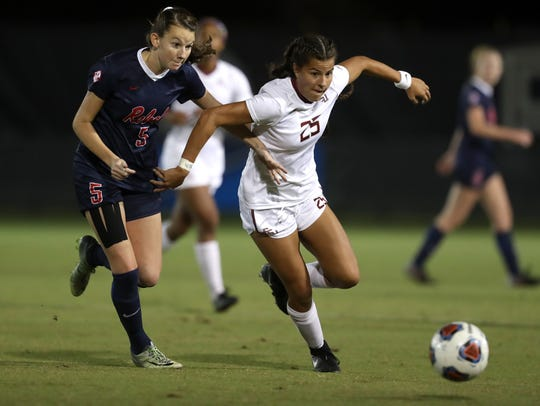 FSU's Emily Madril fights off Ole Miss' CeCe Kizer
