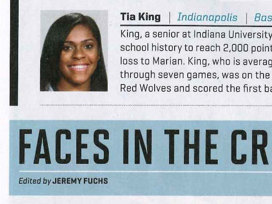 Indiana University East senior women's basketball All-American