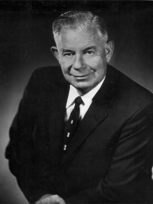 Ernest W. McFarland (in a July 1964 photo) served Arizona in a variety of public positions.   Republic file photo Former Senator and Governor Ernest W. McFarland.  July 1964.  Credit: The Arizona Republic file photo.
