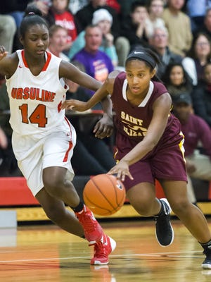 St. Elizabeth's Alanna Speaks scored 16 points as the Vikings defeated Dover on Saturday.