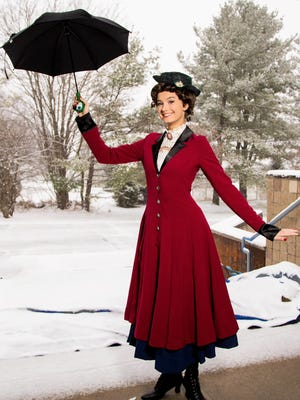 """Natalie Mehl, 17, of Lebanon is """"practically perfect"""" as Mary Poppins in a magical new production of the family musical. SKIT presents six performances at Voorhees High School from Jan. 20 to 28."""