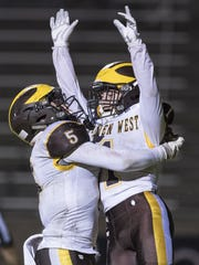 Golden West's Christian Ortiz and Ian Kelly celebrate