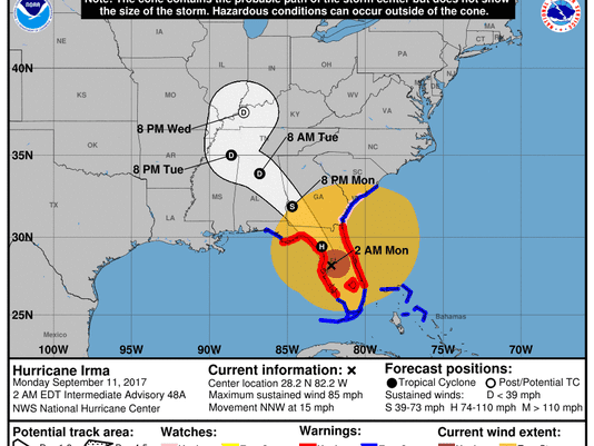 Hurricane Irma 2am Monday