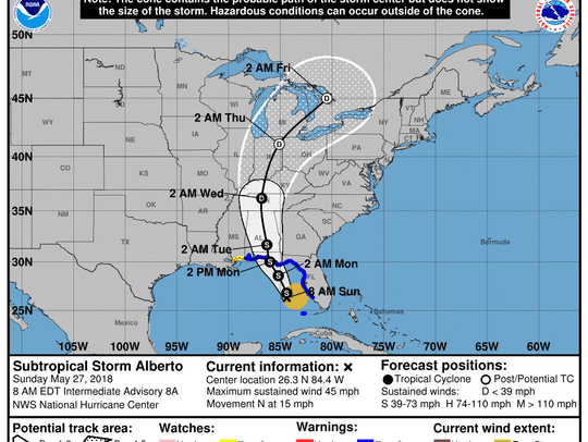 The National Hurricane Center's update on Subtropical