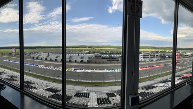 Pocono Raceway is empty for race weekend except for essential personnel and few media members this weekend.