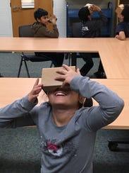 The Google Cardboard viewer looks like a little box,