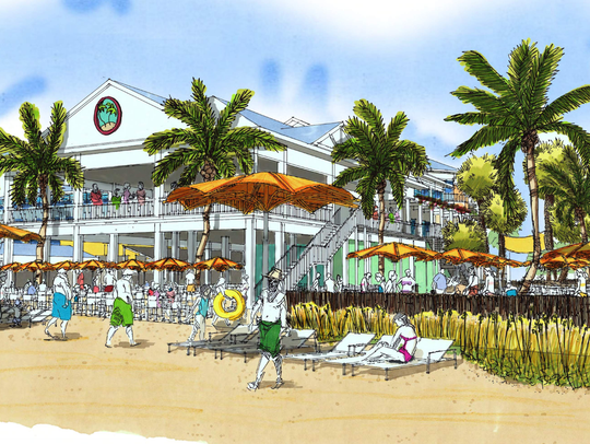 A preliminary, conceptual plan for Times Square Resorts