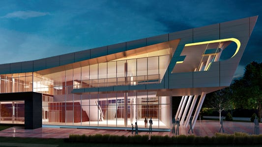 Rendering of upgraded Purdue football facility
