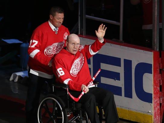Former Red Wings' Doug Brown and Vladimir Konstantinov
