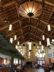 The Ptarmigan Dining Room had a low drop ceiling installed