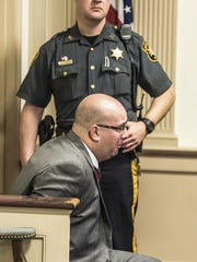 Andrew Pfitzenmayer after his sentencing Dec. 14, 2015 for unlawful possession of a handgun at Headquarters Plaza in Morristown on July 29, 2015.