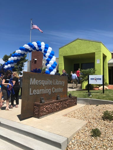 The Mesquite Library Learning Center during its grand