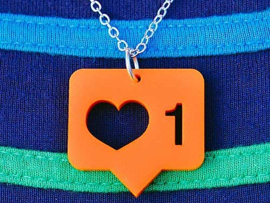An Instagram-inspired necklace.