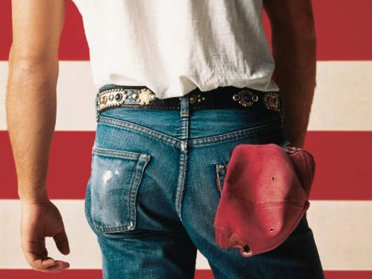 """Cover art for the 1984 album """"Born in the USA"""" by Bruce"""
