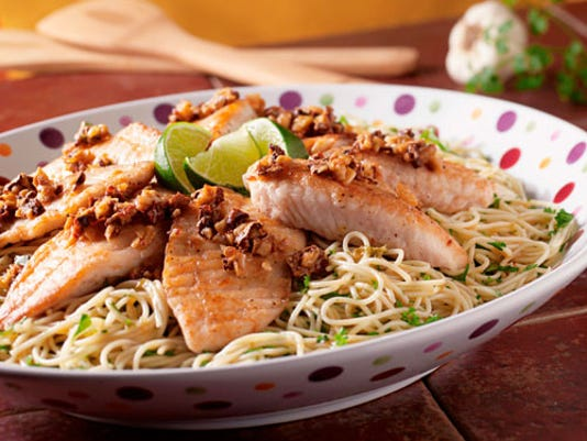 Dinner in 30: Tilapia with garlic sauce & pasta