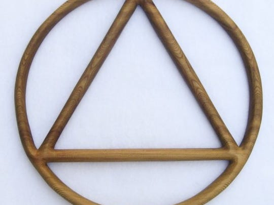 The circle and triangle is the symbol of Alcoholics Anonymous