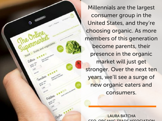 A new and expanded survey on the organic attitude of U.S. families by the Organic Trade Association shows that Millennials are big buyers of organic.