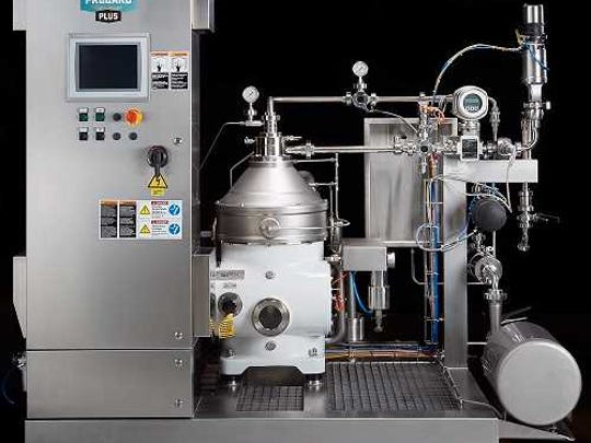 This machine adds carbonation to beer while reducing levels of hops and yeast that create cloudiness in the liquid.