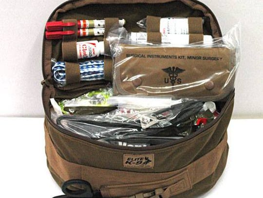 A donor purchased a K-9 Tactical First Aid Field Kit