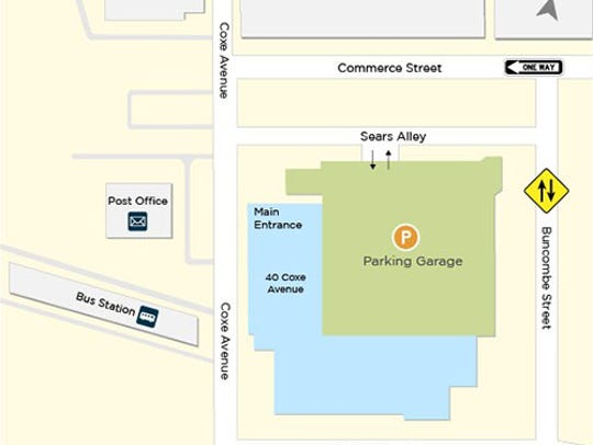 A map of the new entrance and other details for Buncombe