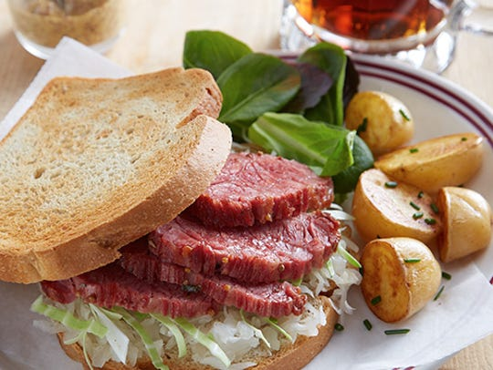 Enjoy a corned beef sandwich this St. Patrick's Day.