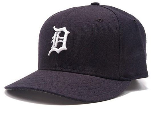 A Detroit Tigers hat with the Old English D on it.