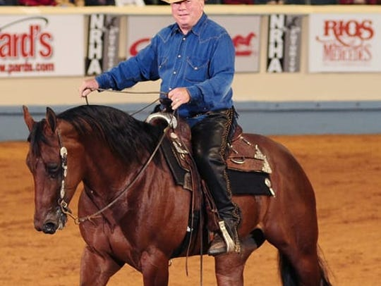 Actor William Shatner rides competitively and participates