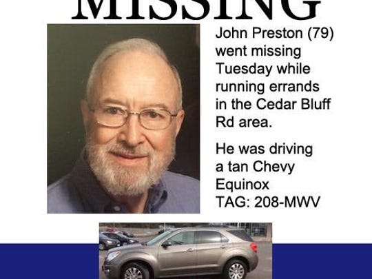 John Preston has been missing since Tuesday, July 10, 2018.