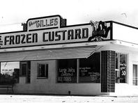 A shot of the Gilles custard stand back in the days when a sundae was a quarter.