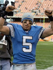 QB Jeff Garcia: Signed to a 1-year deal in 2005, Garcia struggled in his only season in Detroit, completing 59% of his passes for 937 yards, three touchdowns and six interceptions in just six games. He lost his starting job to Joey Harrington and was not re-signed after the season.