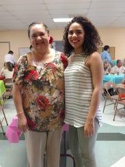 The Rev. Rose Mary Sanchez-Guzman, left, and Ariella