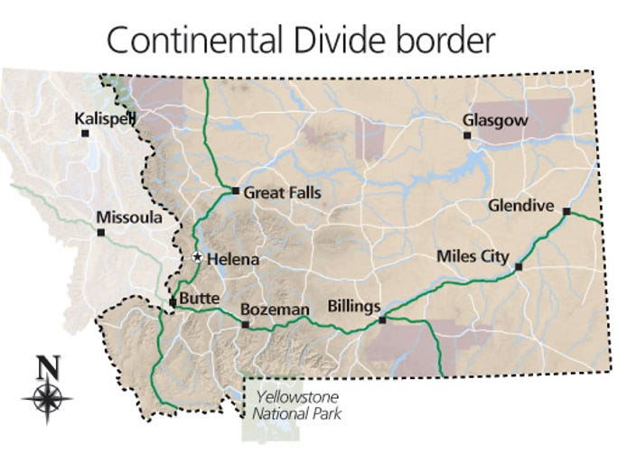 Western Continental Divide The Continental Divide