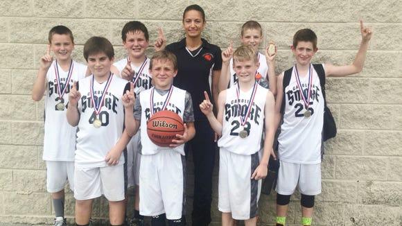 The Carolina Smoke boys basketball team.