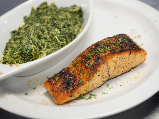 The Blackened Salmon of Crescent City Bistro.