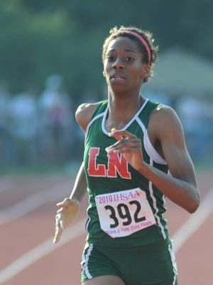 Ahlivia Spencer ran track for Lawrence North in 2010.
