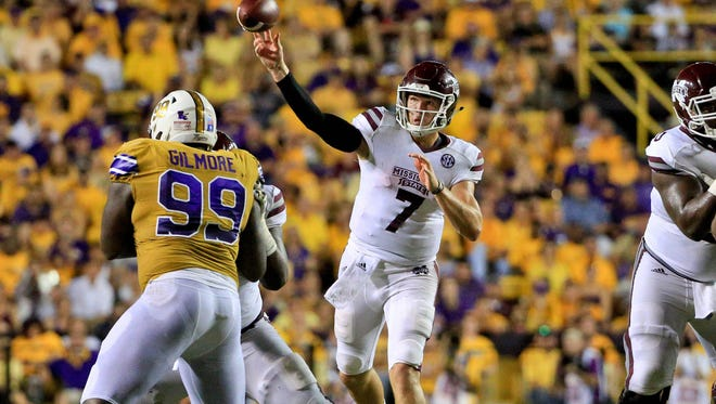 Mississippi State quarterback Nick Fitzgerald will start against this weekend against UMass.