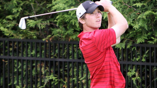 Rye's James McHugh follows his drive off the 17th tee at Fenway Country Club during the boys Section 1 golf championship May 20, 2015. McHugh won the championship.