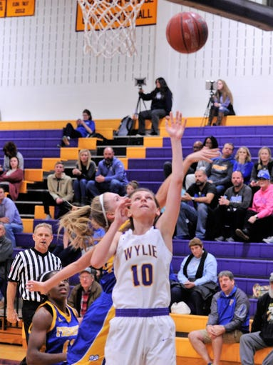 Wylie's Abbey Henson shoots a layup during Tuesday's