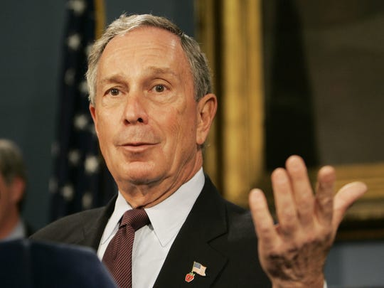 New York City Mayor Michael Bloomberg speaks at a press