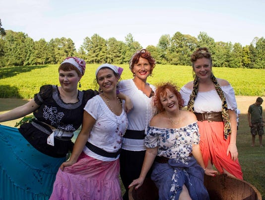 Women dressed as Lucy