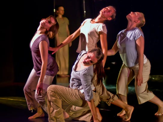 The Bryce Dance Company takes part in a performance