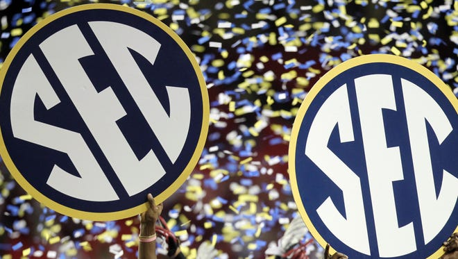 Confetti and conference pride are a mark of the SEC on the football field. But what about off it?