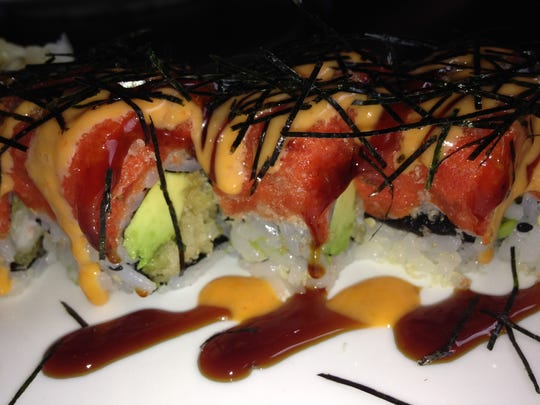 Sushi roll at Maguro in North Naples.
