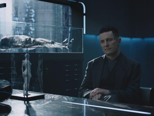 """In """"Ghost in the Shell,"""" Cutter (Peter Ferdinando) is a boss at  Hanka Robotics."""