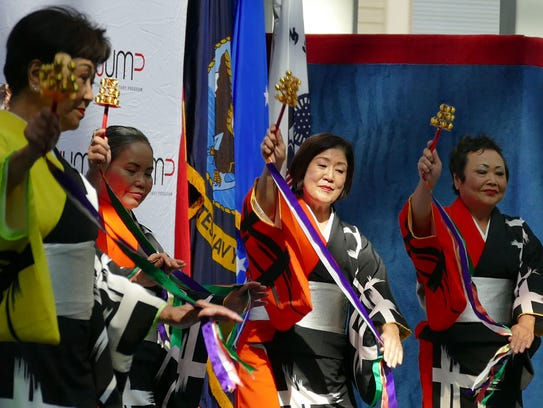 Members of the Japanese American Dance Group perform